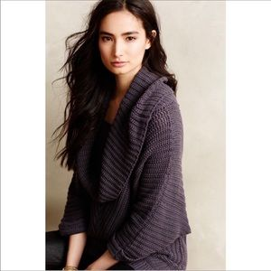 Anthropologie moth Tocas chunky sweater